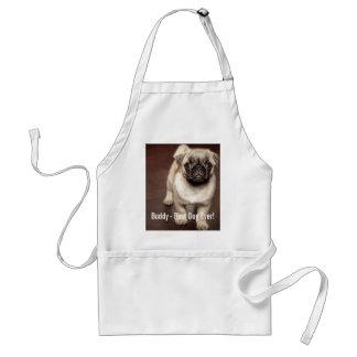 Personalized Pug Dog Photo and Your Pug Dog Name Standard Apron