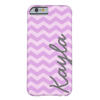 Personalized Purple and Pink Girly Chevron Pattern Barely There iPhone 6 Case