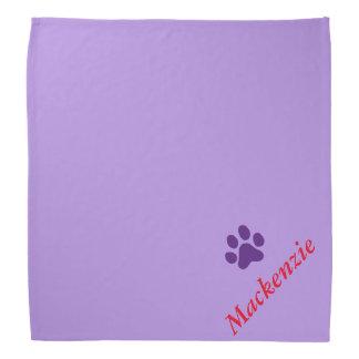 Personalized Purring Purple Paw Print Do-rag
