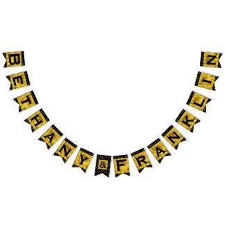 Personalized Random Gold Dot Patten Wedding Bunting