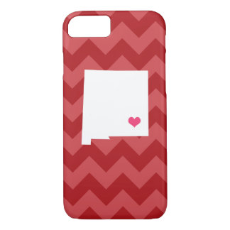Personalized Red Chevron New Mexico Heart iPhone 8/7 Case