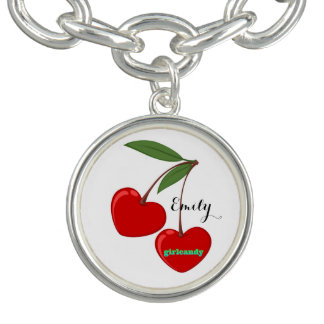 Personalized Red Hearts Cherries