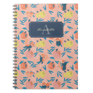 Personalized 'Red Panda' Pink Apple Notebook