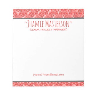 Personalized Red Peddler Notepad