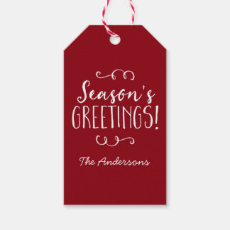 Personalized Red Season's Greetings