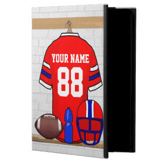 Personalized Red White Blue Football Jersey