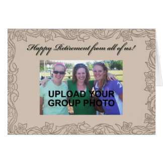Personalized Retirement Card