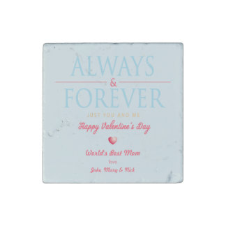 Personalized Retro Valentine's Day Novelty Magnet Stone Magnet