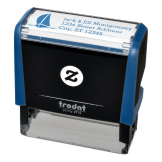 Personalized Return Address with Sailboat Self-inking Stamp
