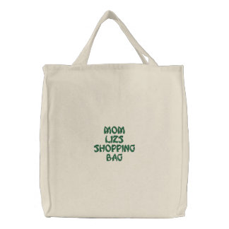 Personalized Reuseable Shopping Bags! Embroidered Tote Bag