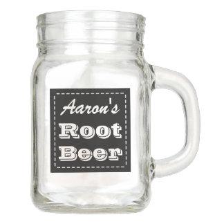 Personalized Root Beer Mason Jar Mug