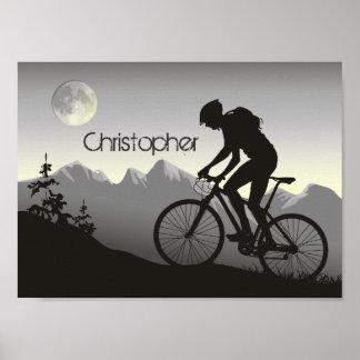 Personalized Silhouette Mountain Bike Poster
