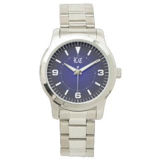 personalized silver bracelet watch