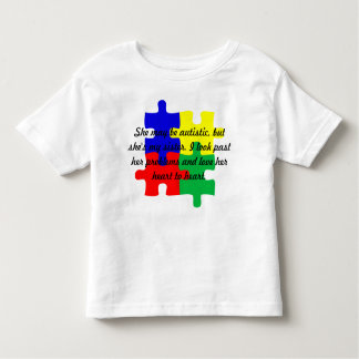 "Personalized ""Sister"" Autism T-Shrit Toddlers' Toddler T-Shirt"