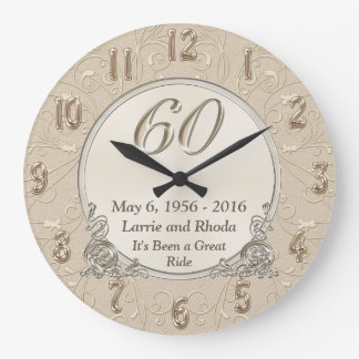 Personalised Wedding Anniversary Gifts Nz : Personalized Sixtieth Wedding Anniversary Gifts Wallclock