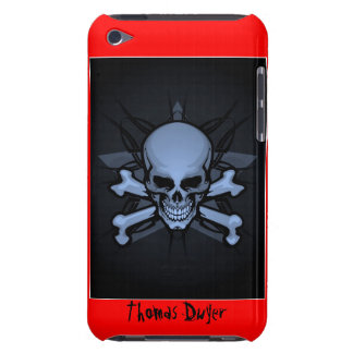 Personalized ! sKuLL cRoSsBoNz IPOD TOUCH 4th gen  iPod Touch Covers