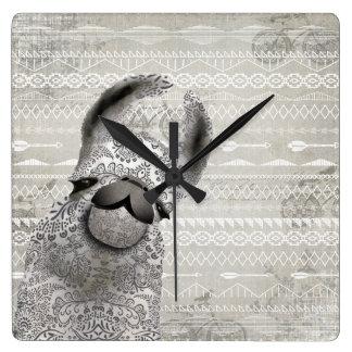 Personalized Snooty Snobby Llama Wall Clock