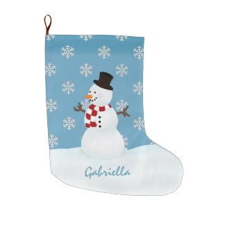 Personalized Snowman Christmas Stocking