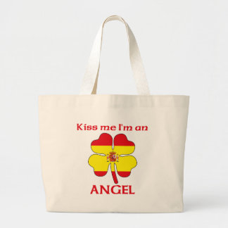 Personalized Spanish Kiss Me I'm Angel Canvas Bags