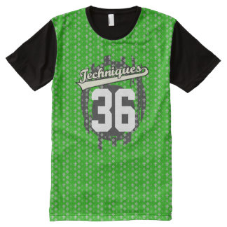 Personalized Sports Techniques Jersey All-Over Print T-Shirt