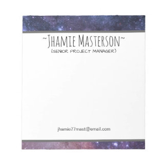 Personalized Starry Sky Notepad