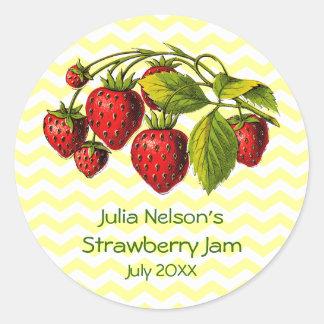 Personalized Strawberry Jam Jar Label