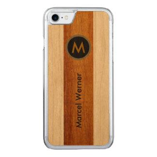 personalized stylish monogram carved iPhone 7 case