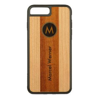 personalized stylish monogram carved iPhone 7 plus case