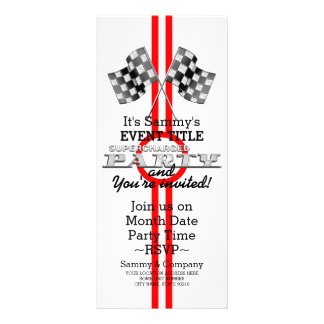 Personalized Supercharged Performance Party Rack Card Template