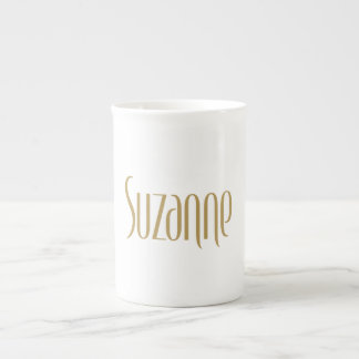 Personalized Tall Elegance Gold Suzanne Tea Cup