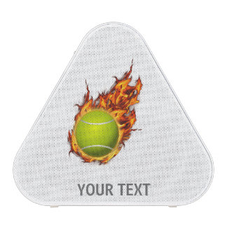 Personalized Tennis Ball on Fire Tennis Theme Gift