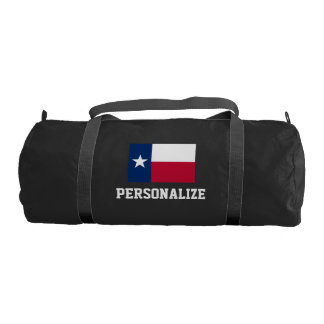 Personalized Texas flag duffle gym bag for sports
