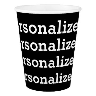 PERSONALIZED Text Paper Cup Template