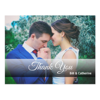 Personalized Thank You with Full Photo Postcard