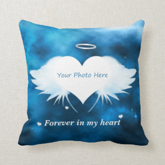Personalized Throw Pillow - Angel of the Heart Cushion
