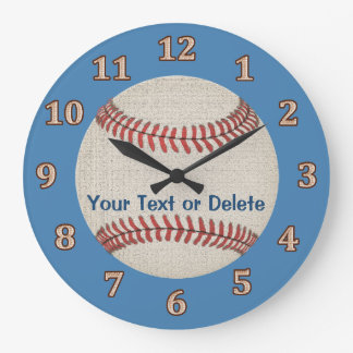 Personalized Vintage Baseball Baby Clock YOUR TEXT