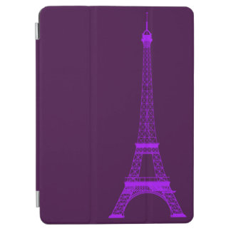 Personalized Violet Eiffel Tower iPad Air Cover