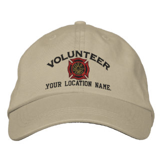 Personalized Volunteer Firefighter Embroidery Embroidered Cap