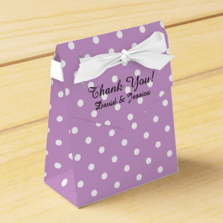 Personalized wedding favor box | lavender purple wedding favour box