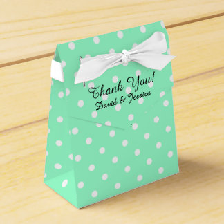 Personalized wedding favor box | Mint green color Wedding Favour Box