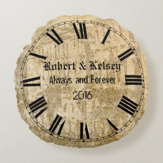 Personalized Wedding or Anniversary Round Cushion