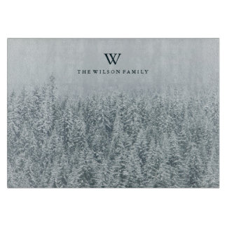 Personalized | Winter Cutting Board