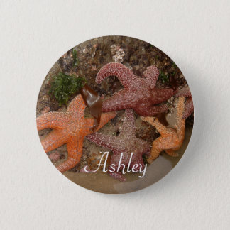 Personalized with Name: Starfish/Sea Star Photo 4 6 Cm Round Badge