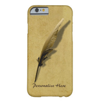 Personalized with Vintage Quill Pen Barely There iPhone 6 Case