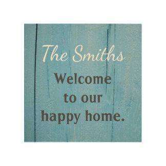 Personalized Wood Welcome Sign Wood Canvases
