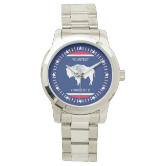 Personalized Wyoming State Flag Design Watch