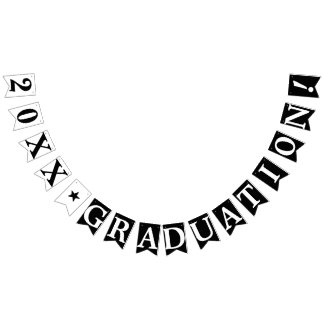 PERSONALIZED YEAR GRADUATION, Black Bunting