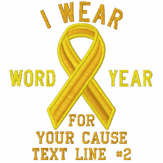 Personalized Yellow Ribbon Awareness Embroidery