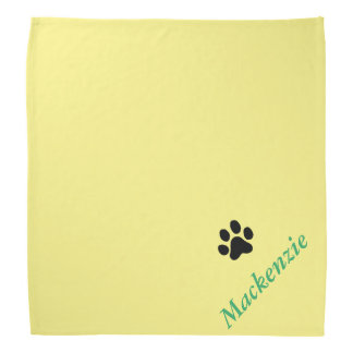 Personalized Yelping For Yellow Black Paw Print Kerchief
