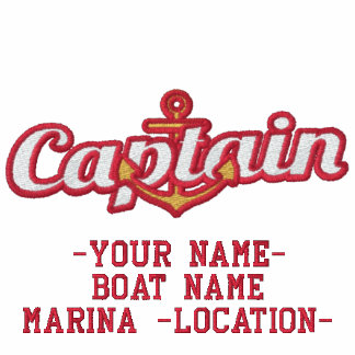 Personalized Your Name Captain Anchor Embroidery Polo